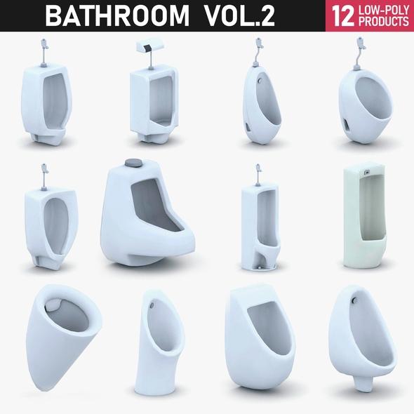 Bathroom Vol 3 - Urinals - 3DOcean Item for Sale
