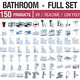 Bathroom Collection Full Set - 150 Products