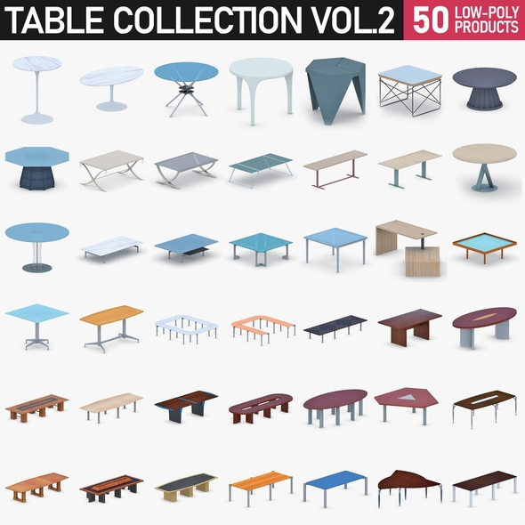 Table Collection Vol 2 - 3DOcean Item for Sale