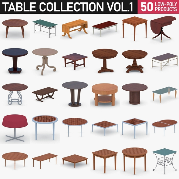 Table Collection Vol 1 - 3DOcean Item for Sale