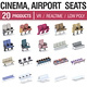 Cinema and Airport Chairs - 20 Products