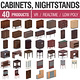 Cabinets and Nightstands - 40 Products
