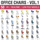 Office Chairs Collection Vol 1 - 3DOcean Item for Sale