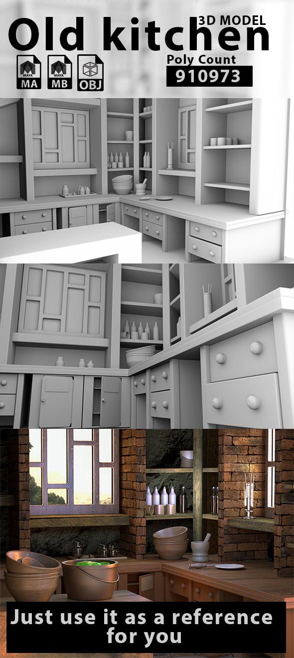 Old kitchen - 3DOcean Item for Sale