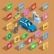 Car Automotive Icons Vector Isometric Automobile