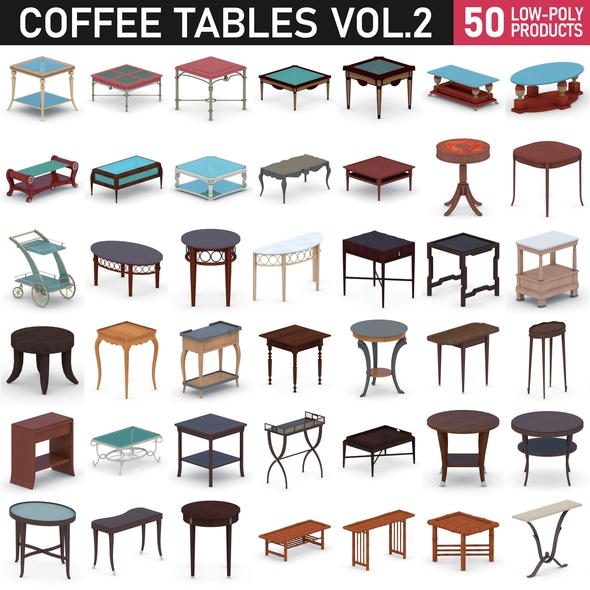 Coffee Table Collection - Vol 2 - 3DOcean Item for Sale