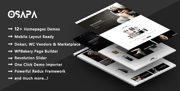 Osapa – Premium Multi-Purpose Responsive WooCommerce WordPress Theme