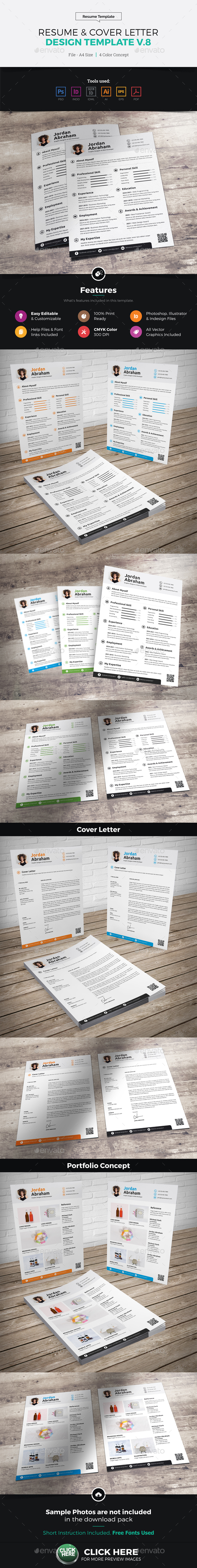 Resume & Cover Letter Design v8 - Resumes Stationery