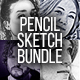 Pencil Sketch Bundle - 4 Photoshop Action