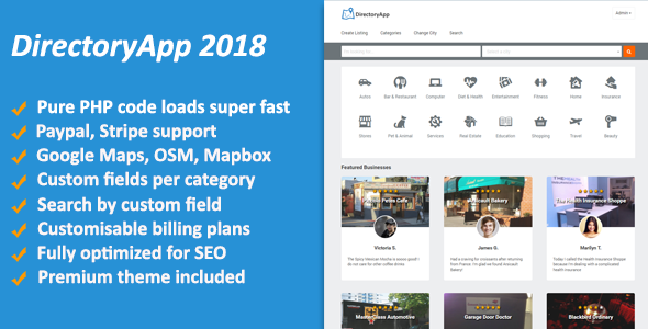 Directoryapp 2018 - Business Directory - CodeCanyon Item for Sale