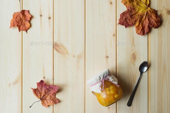 Still Life of Pumpkin Jam - Stock Photo - Images