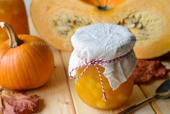 homemade pumpkin jam - Stock Photo - Images