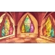 Ballroom or Gothic Palace Hall Vector Illustration