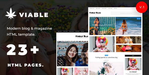 Viable – Modern Blog & Magazine HTML Template