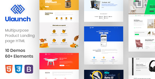 ULaunch - Multipurpose HTML Template For Apps & Products - Marketing Corporate