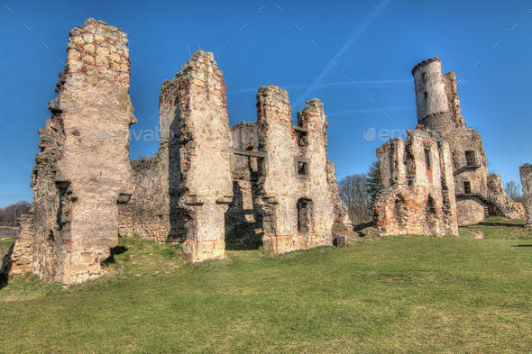 Ruins of Zviretice castle - Stock Photo - Images
