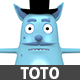 Toto Character Cartoon - 3DOcean Item for Sale