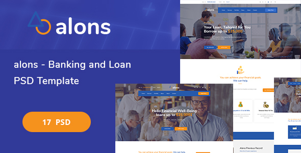 Alons - Banking and Loan PSD Template - Corporate PSD Templates