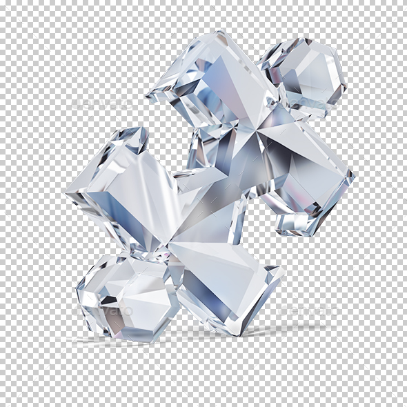 Diamond Puzzle - Objects 3D Renders