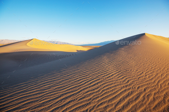 Sand dunes in California - Stock Photo - Images