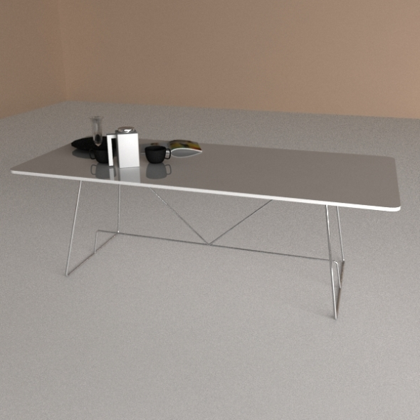 Calligaris Table Duke - 3DOcean Item for Sale