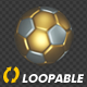 Soccer Ball - Gold and Silver - Rotating Loop - VideoHive Item for Sale