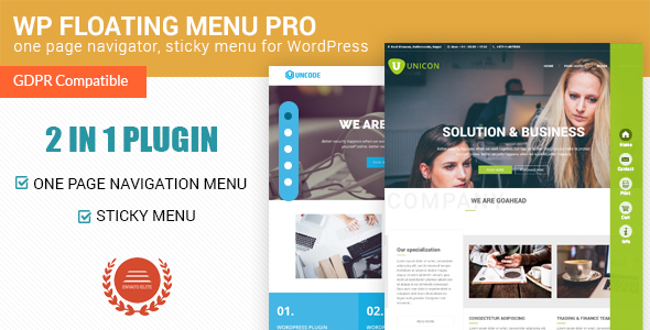 WP Floating Menu Pro - One page navigator, sticky menu for WordPress - CodeCanyon Item for Sale