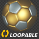 Soccer Ball - Gold and Silver - Bouncing Loop - VideoHive Item for Sale