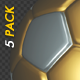 Soccer Ball - Gold and Silver - Bouncing Transition - Pack of 5 - VideoHive Item for Sale