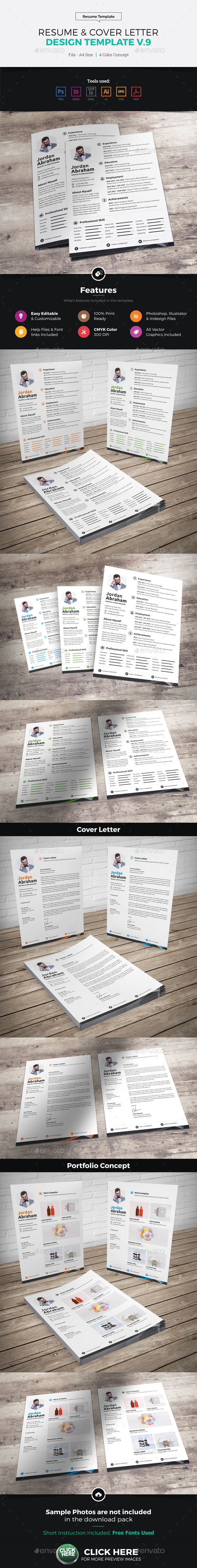Resume & Cover Letter Design v9 - Resumes Stationery