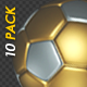 Soccer Ball - Gold and Silver - Flying Transition - Pack of 10 - VideoHive Item for Sale