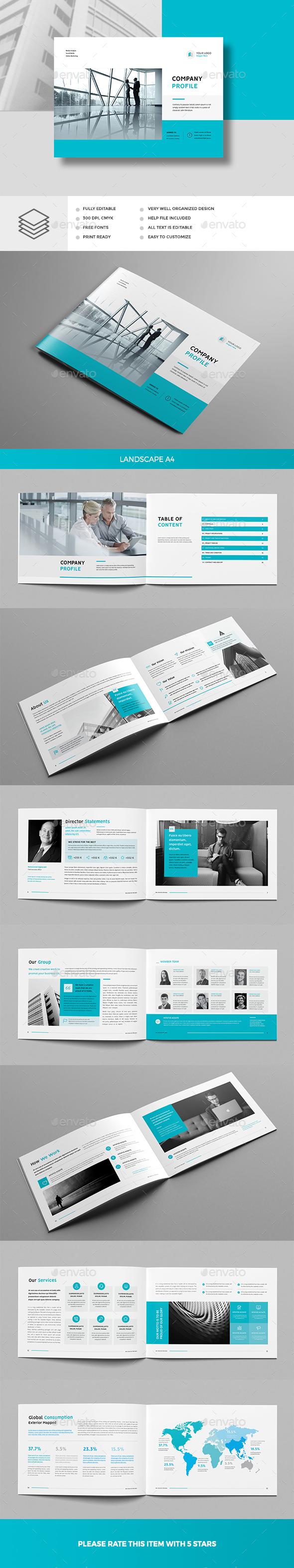 Company Profile Landscape - Corporate Brochures