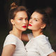 two beautiful girls with red lips - PhotoDune Item for Sale