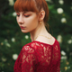 beautiful red haired girl in park - PhotoDune Item for Sale