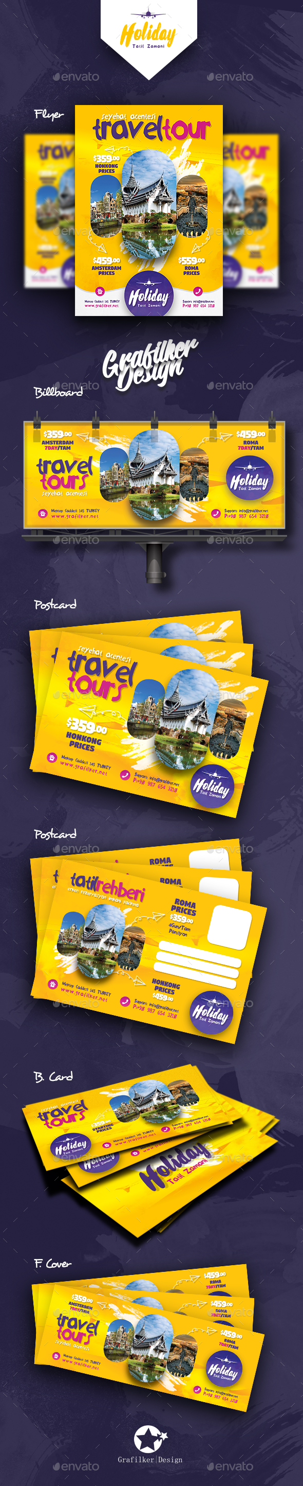 Travel Tours Bundle Templates - Corporate Flyers