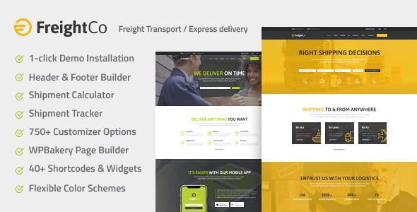 Image of FreightCo | Transportation & Warehousing WordPress Theme
