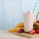 Strawberry-banana smoothie, strawberries and bananas - PhotoDune Item for Sale