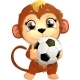 Monkey with Soccer Ball