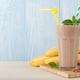 Banana smoothie, bananas and nuts - PhotoDune Item for Sale