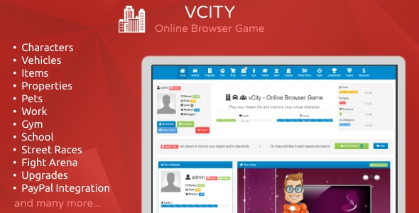 vCity - Create Your Own Browser Game - CodeCanyon Item for Sale