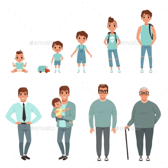 Life Cycles of Man - People Characters
