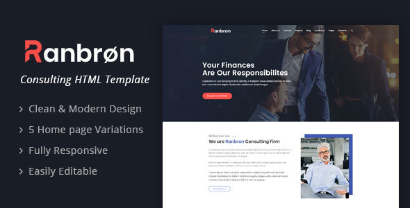 Image of Ranbron - A Perfect Business Consulting HTML Template