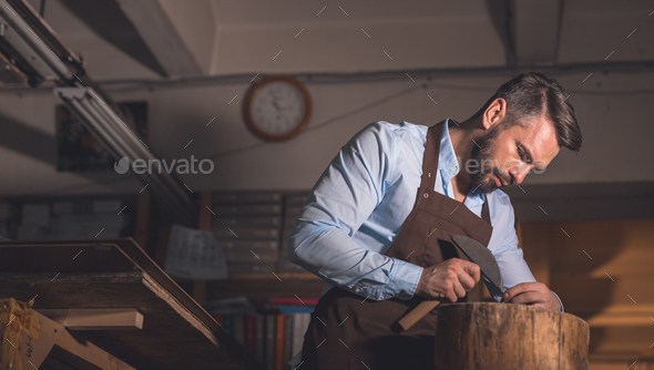 Mature man at work - Stock Photo - Images