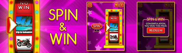 Spin & Win - HTML5 Instant Win Game by codethislab | CodeCanyon