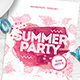 Summer Party Flyer / Poster - GraphicRiver Item for Sale