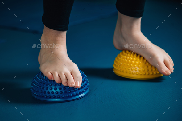 physical therapy tools for flat feet-   balance pod - Stock Photo - Images