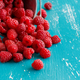 Fresh raspberries in a bucket - PhotoDune Item for Sale