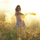 Woman with Colored Yellow Smoke - VideoHive Item for Sale
