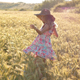 Girl with a Hat in a Wheat Field - VideoHive Item for Sale