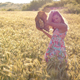 Charm Blond Girl in Wheat Field - VideoHive Item for Sale
